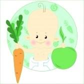 bebe manzana zanahoria
