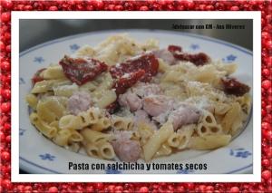 pasta con salchicha y tomates secos GM