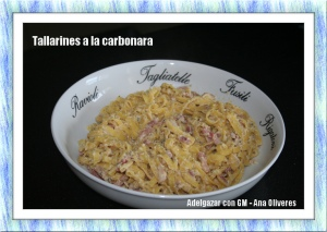 tallarines a la carbonara GM