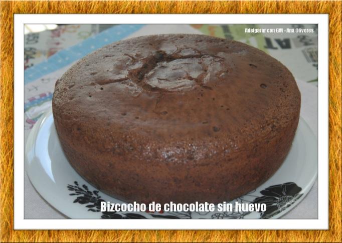 bizcocho de chocolate sin huevo GM