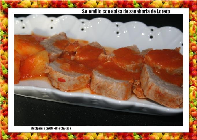Un solomillo con la salsa de zanahorias de Loreto
