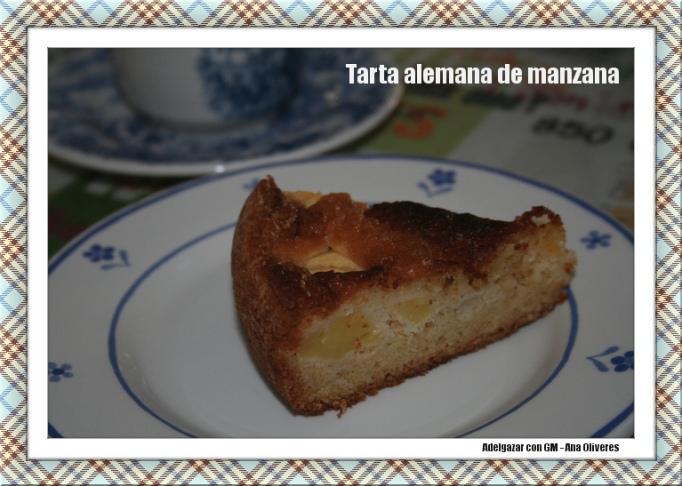 tarta alemana de manzana corte