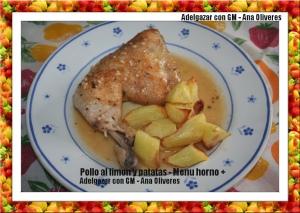 Pollo asado al limon con patatas