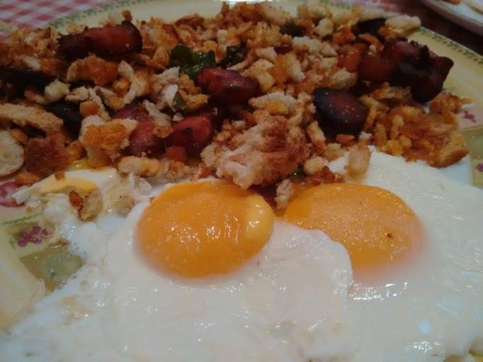 Migas con chorizo y huevos en CECOFRY