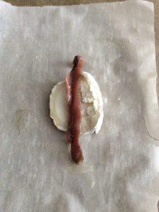 queso de cabra y anchoa
