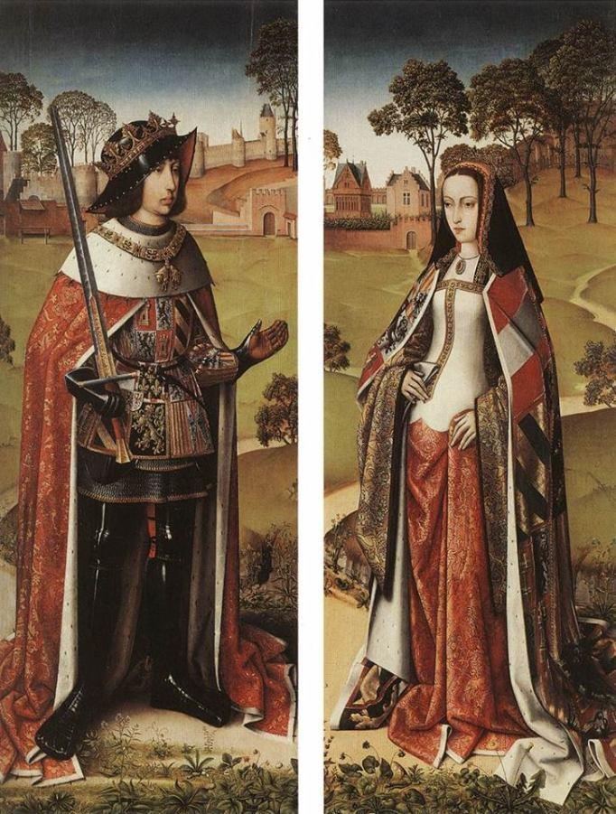 Juana de Castilla, mi compañera imaginaria durante este viaje, junto a su marido Felipe el Hermoso
