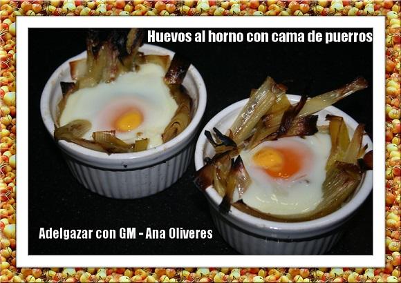 huevos al horno con cama de puerros1