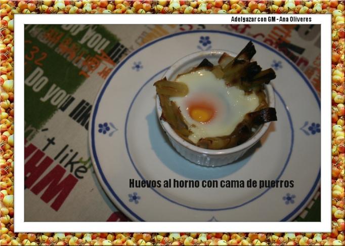 huevos al horno con cama de puerros2