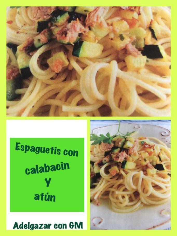 espaguetis con calabacin y atun