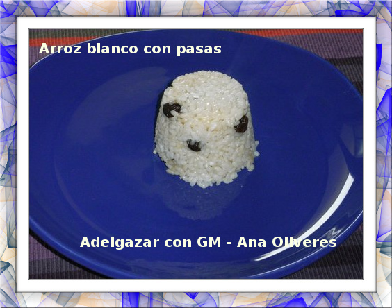 arroz blanco con pasas GM