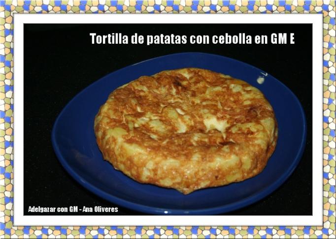 tortilla de patatas con cebolla en GM E