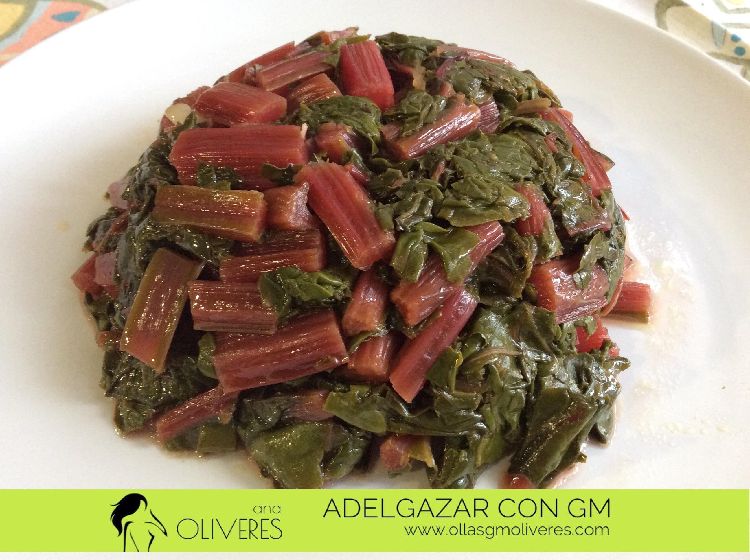 Acelgas rojas rehogadas estar bien de la olla - Como cocinar alubias rojas ...